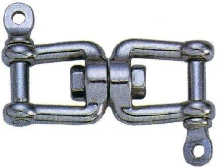 Osculati Dvojitý otočný nerezový šekel nerez AISI316 10mm