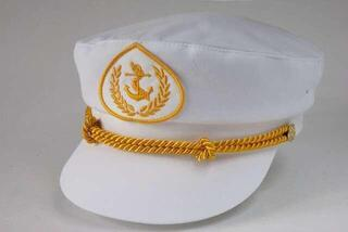 Sailor Captain Hat Women White/Gold