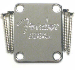Fender American Series Guitar-Bass Neck Plate Chrome