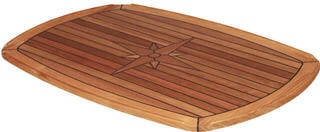 Talamex TEAK TABLETOP HALF ELLIPS