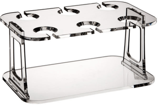 Marine Business Party verre de vin carrier collapsible plateau