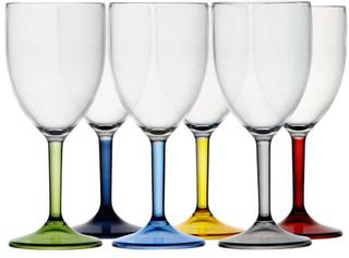 Marine Business Party Wasser / Weinglas mehrfarbig