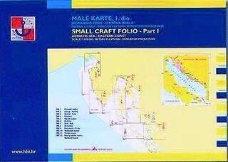 HHI Male Karte Jadransko More - Small Craft Folio Adriatic Sea Eastern Coast Part 1