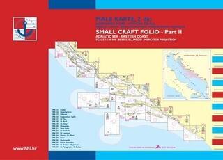 HHI Male Karte Jadransko More - Small Craft Folio Adriatic Sea Eastern Coast Part 2