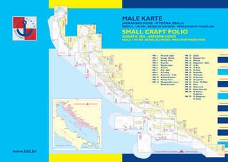 HHI Male Karte Jadransko More - Small Craft Folio Adriatic Sea Eastern Coast