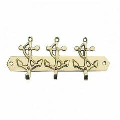 Sea-club Keyholder 3 anchors - brass