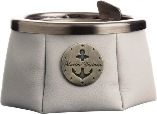 Marine Business Ashtray with lid - Premium Ecru - WINDPROOF