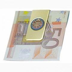 Sea-club Money Clip Compass Rose - brass