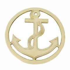 Sea-club Pot Mat Anchor - brass
