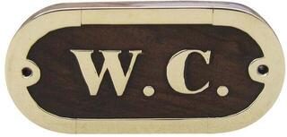Sea-club Door name plate - W.C.
