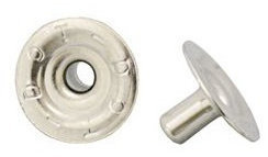 DOT Fasteners Durable and Pull-the-DOT Post Nickel 6,1mm