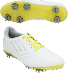 Adidas Adizero Tour Womens Golf Shoes White/Yellow UK 4