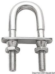Osculati U-bolt with safety nut