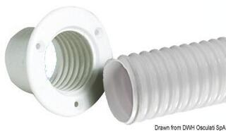 Osculati Flexible PVC hose white