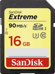 SanDisk Extreme SDHC UHS-I Memory Card 16 GB
