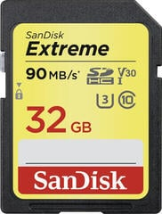 SanDisk Extreme SDHC UHS-I Memory Card 32 GB
