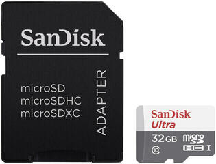 SanDisk Ultra microSDHC UHS-I Card 32 GB with Adapter
