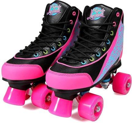 Luscious Skates Disco Diva 38 Black/Pink