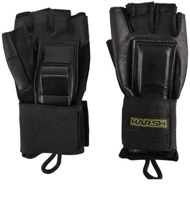 Harsh Pro Protection Wrist Guards for Adults Black M