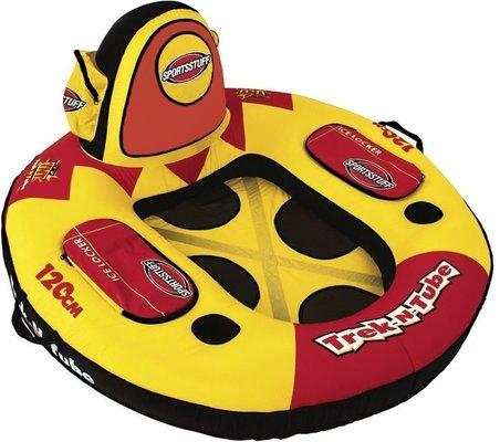 Sportsstuff Inflatable Trek-N-Tube 1 Person Yellow/Black/Red