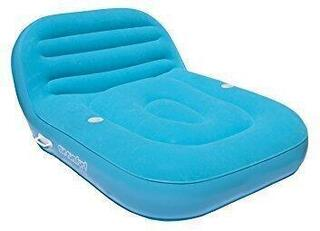 Airhead Inflatable Double Chaise Lounge 2 Persons saphire