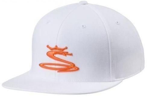 Cobra Youth Tour Snake Snapback Cap White Vibrant Orange