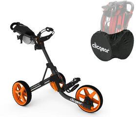 Clicgear 3.5+ Golf Trolley Черен мат/Удобен музикален комплект
