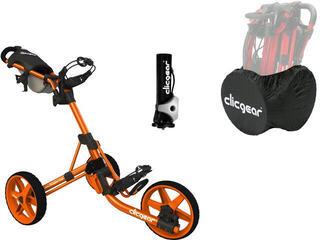 Clicgear 3.5+ Golf Trolley Oранжев/Deluxe Set