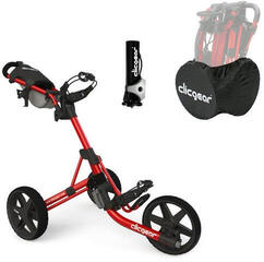 Clicgear 3.5+ Golf Trolley Червен/Deluxe Set