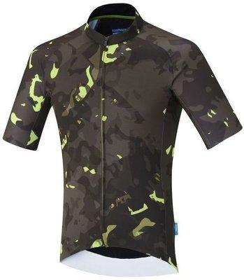 Shimano Breakaway Short Sleeve Jersey Neon Lime XL