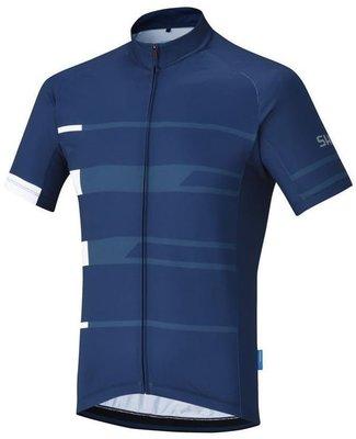 Shimano Team Short Sleeve Jersey Navy M