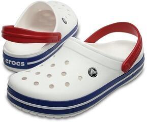 Crocs Crocband Clog White/Blue Jean