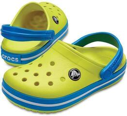 Crocs Kids' Crocband Clog Tennis Ball Green/Ocean 20-21