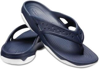 Crocs Men's Swiftwater Deck Flip Navy/White