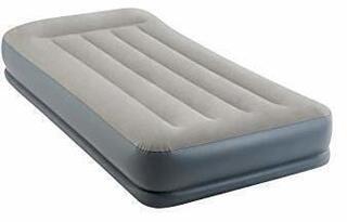 Intex Twin Pillow Rest Mid-Rise Airbed W/ Fiber-Tech Bip