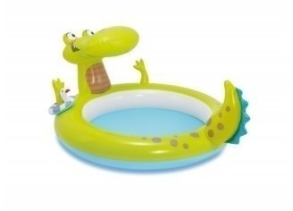 Marimex Inflatable pool with a crocodile-shaped fountain