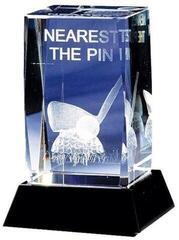 Longridge Nearest The Pin Crystal Golf Trophy - 95mm