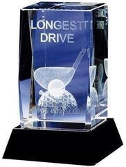 Longridge Longest Drive Crystal Trophy - 95mm