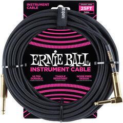 Ernie Ball P06058 Černá 7,5 m Rovný - Lomený