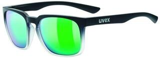 UVEX LGL 35 CV Black Mat Clear-Colorvision Mirror Green Daily S3