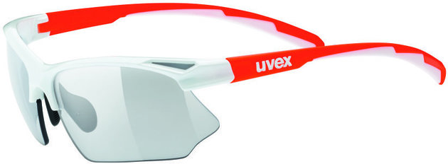 UVEX Sportstyle 802 V White Orange-Variomatic Smoke S1-S3