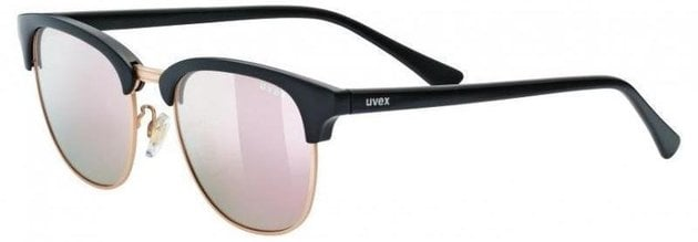 UVEX LGL 37 Polarized Black Mat Gold-Polavison Mirror Pink S3