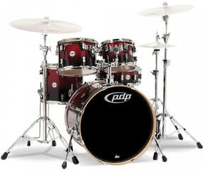 "PDP by DW ""Concept Maple Set 5 pcs 20"""" Red to Black Sparkle Fade"""