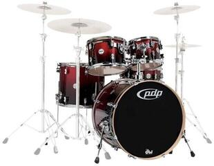 "PDP by DW ""Concept Maple Shell Pack 5 pcs 22"""" Red to Black Sparkle"""