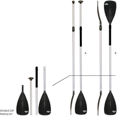 Bravo 6531800N Double SUP Paddle Kit - Alu