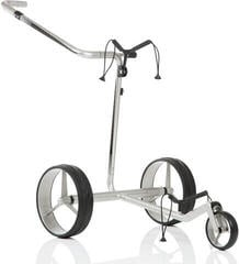 Jucad Carbon Travel Silver/Black Electric Golf Trolley