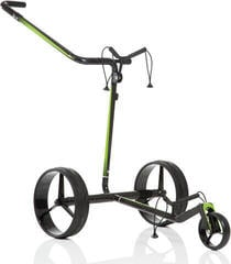 Jucad Carbon Travel Black/Green Electric Golf Trolley