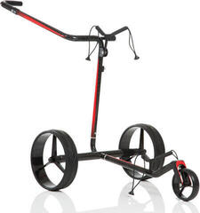 Jucad Carbon Travel Black/Red Electric Golf Trolley
