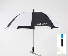 Jucad Telescopic Umbrella Black-White