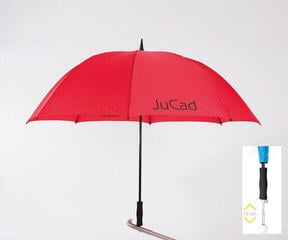 Jucad Telescopic Umbrella Red